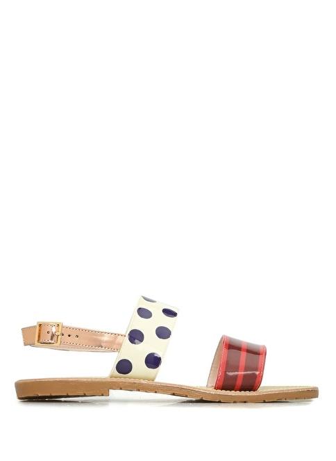Leo Studio Design Puantiyeli Sandalet Renkli